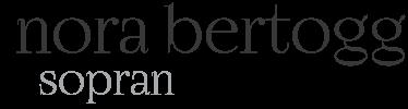 Nora Bertogg, Sopran Logo